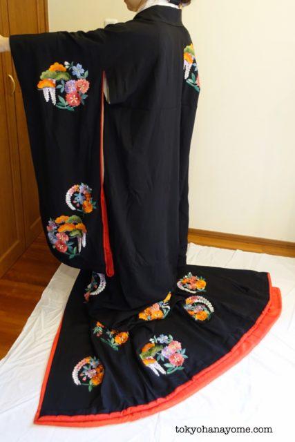 黒引き振袖ネットレンタル神前挙式婚礼和装レンタル専門店